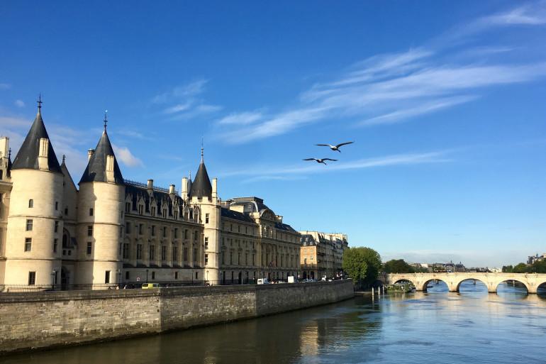 L'historique Palais de Justice de Paris, situé sur l'Île de la Cité