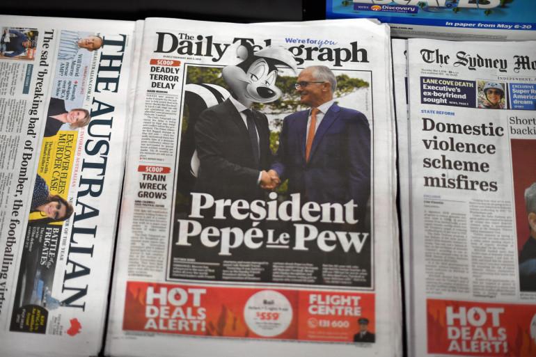 """La couverture du """"Daily Telegraph"""", le 3 mai 2018"""