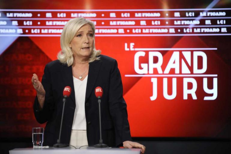 Marine Le Pen, la présidente du Rassemblement national, invitée du Grand Jury RTL le 20 octobre 2019