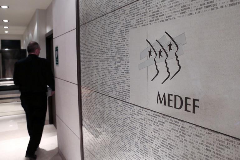 Au siège du Medef, le 11 janvier 2013 à Paris