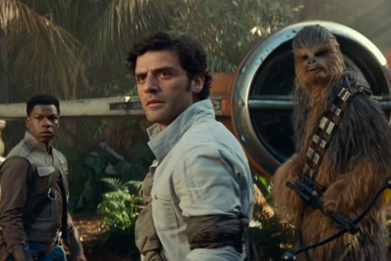 """Finn, Poe Dameron et Chewbacca à la recherche des indices de """"Star Wars 9"""""""