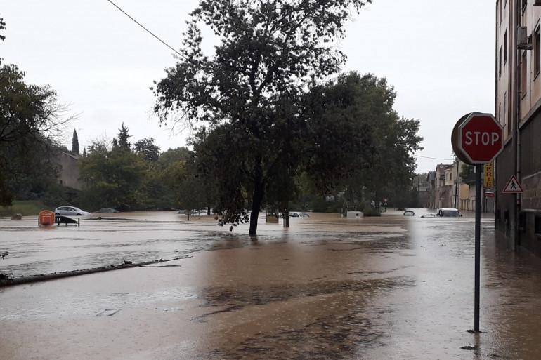 Inondations à Béziers à Four à Chaux