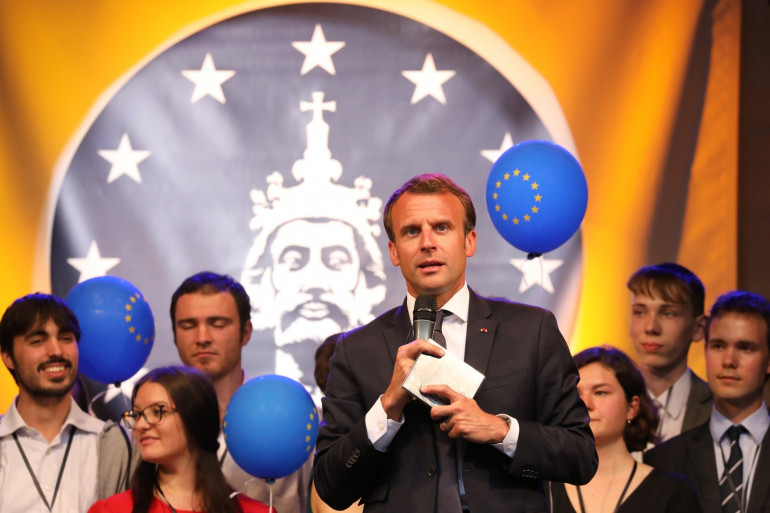 Emmanuel Macron en Allemagne le 9 mai