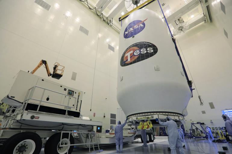 Une fusée SpaceX à Cap Canaveral, le 11 avril 2018