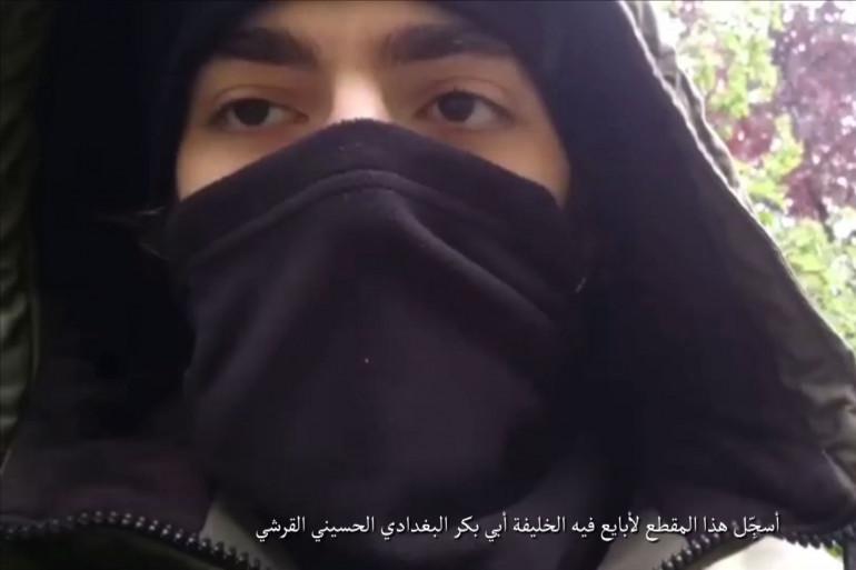 Khamzat Azimov, dans une vidéo diffusée par l'organisation État islamique