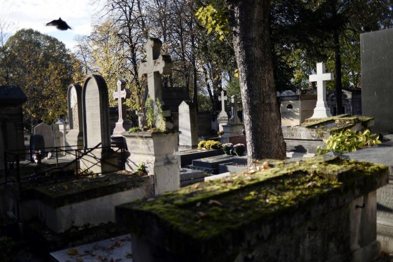 Le cimetière du Père Lachaise à Paris (illustration)