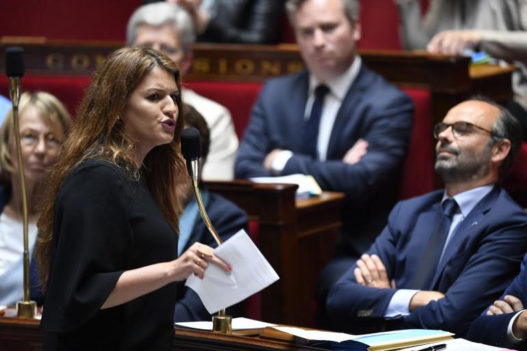 Marlène Schiappa défend son projet de loi contre les violences sexistes et sexuelles à l'Assemblée nationale, le 15 mai 2018.