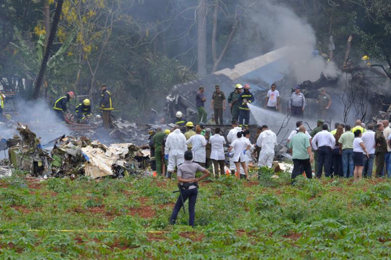 Un avion de ligne s'est écrasé à La Havane, la capitale cubaine, vendredi 18 mai 2018