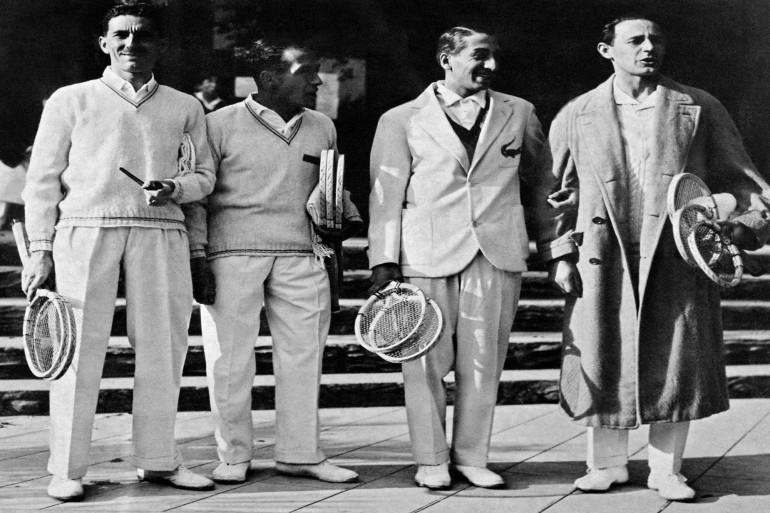 Jacques Brugnon, Henri Cochet, René Lacoste et Jean Borotra en 1930