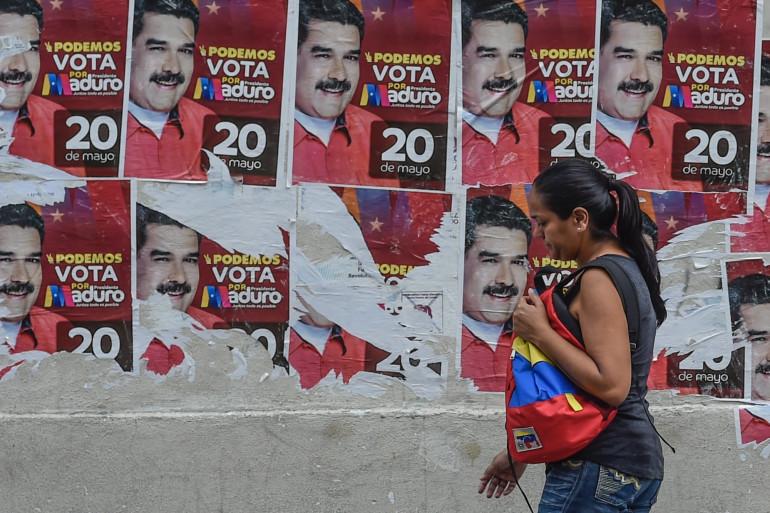 Les affiches électorales de Nicolas Maduro, candidat à sa propre succession