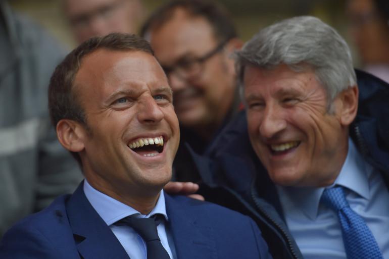 Emmanuel Macron et Philippe de Villiers au Puy-du-Fou, en août 2016