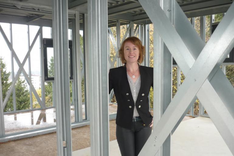 Amandine Paulin construit des maisons à ossature métallique