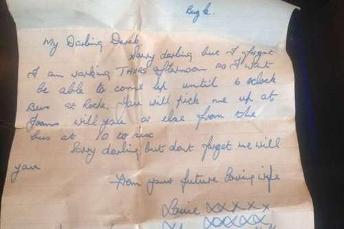 La lettre d'amour écrite par Louie à l'attention de son futur mari Derek