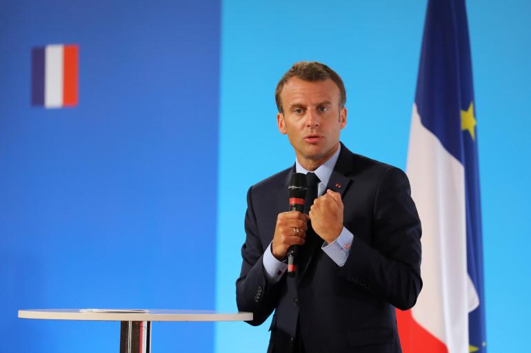 Emmanuel Macron à l'Élysée mardi 22 mai 2018