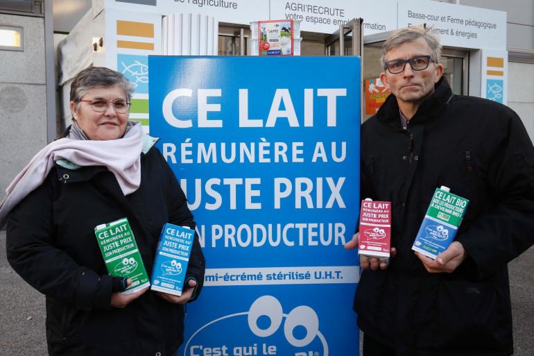 """Martial et Martine Darbon ont lancé la marque de lait """"C'est qui le patron !"""""""