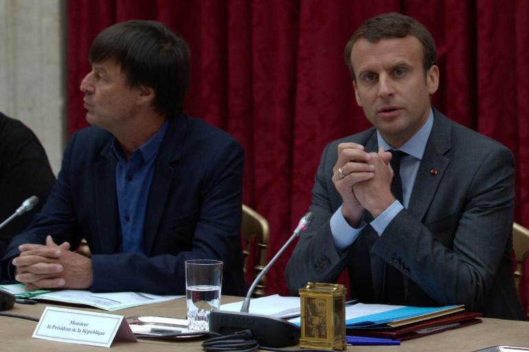 Emmanuel Macron (à droite) avec Nicolas Hulot, le 6 juin 2017
