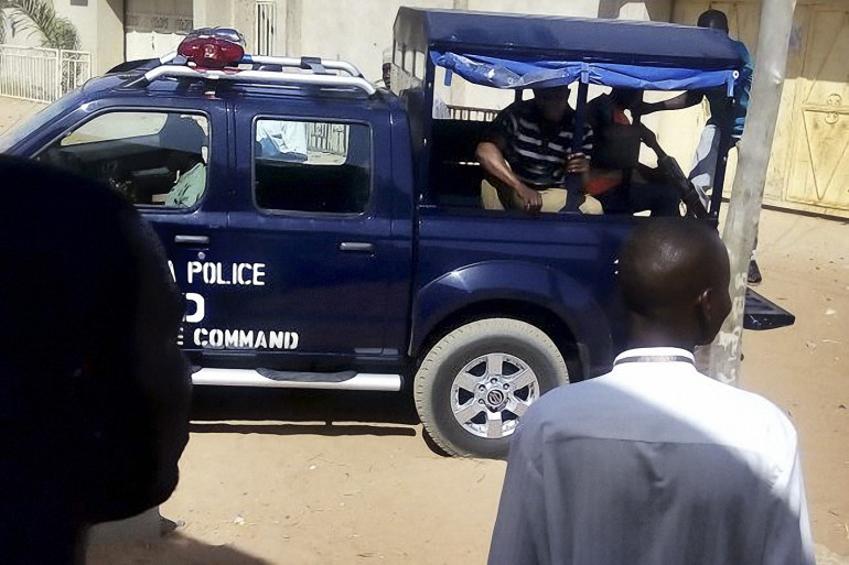 Une voiture de police au Nigeria (photo d'illustration)