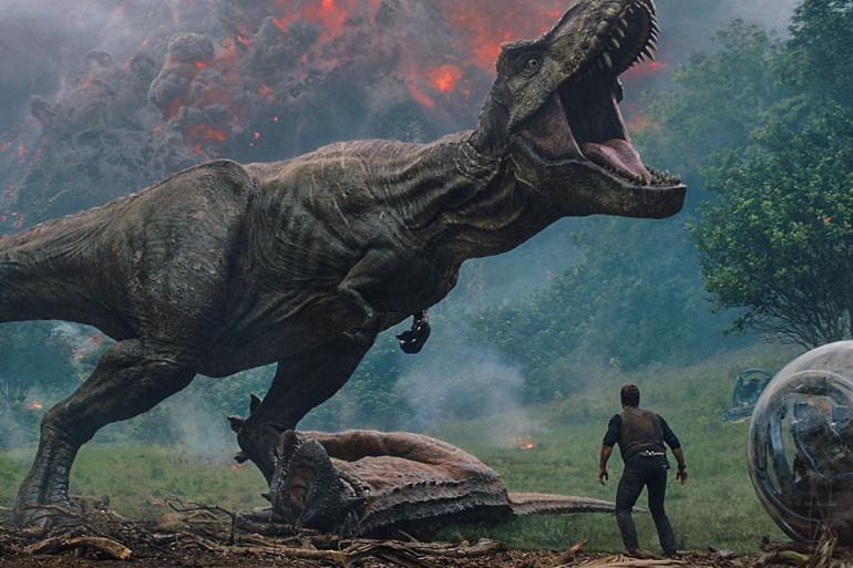 """L'île des dinosaures de """"Jurassic World 2"""" vit un cataclysme"""