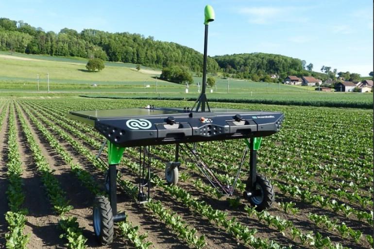 Le robot désherbant autonome d'Ecorobotix