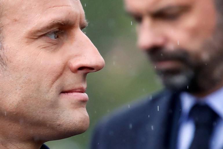 Le président de la République Emmanuel Macron et le Premier ministre Édouard Philippe en mai 2019