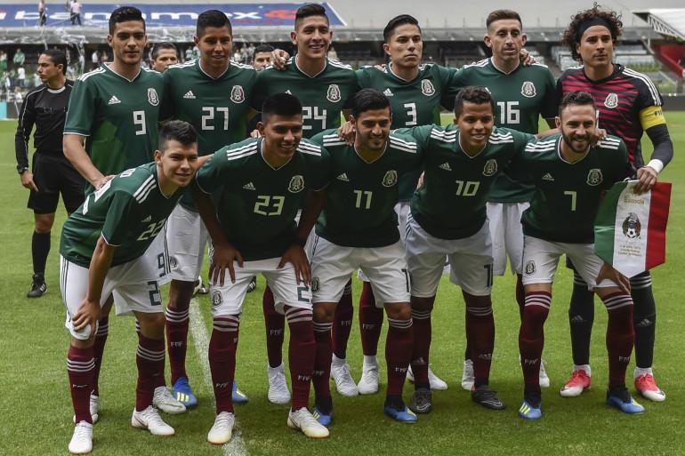 L'équipe mexicaine lors du match amical contre l'Écosse le 2 juin 2018