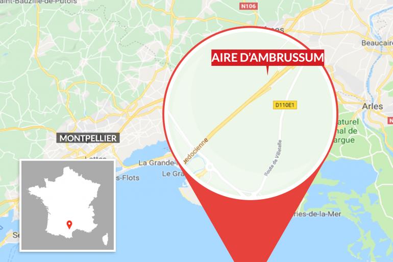 L'aire d'autoroute d'Ambrussum, près de Montpellier