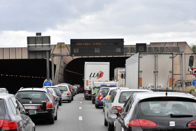 Des embouteillages sur l'A86 (illustration).