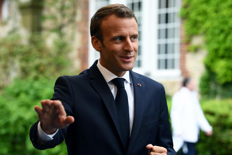 Emmanuel Macron à Clairefontaine, le 5 juin 2018