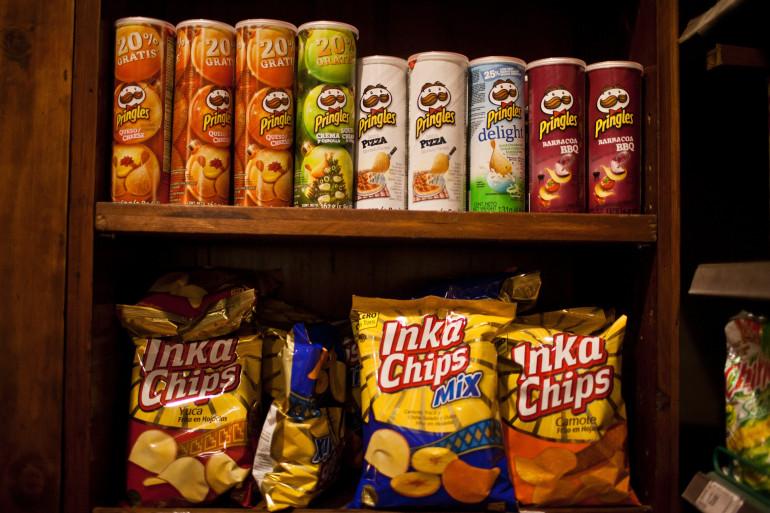 Des sachets de chips (illustration)