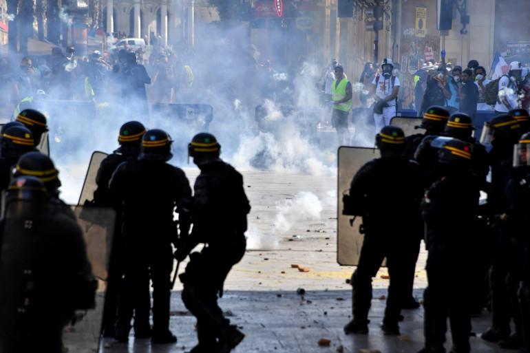"""Affrontements entre """"gilets jaunes"""" et policiers à Montpellier ce samedi 7 septembre 2019"""