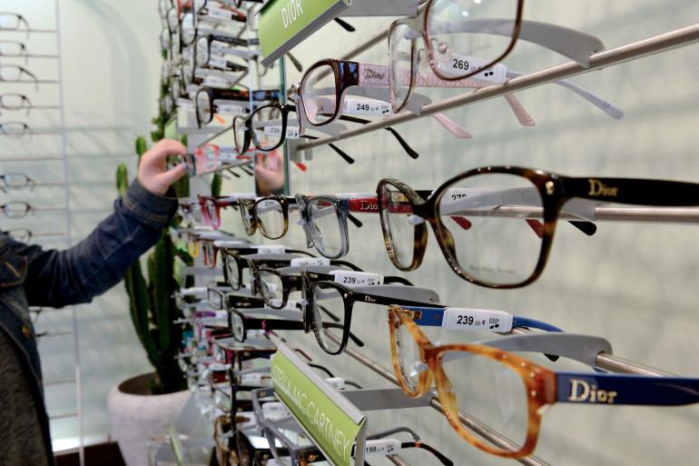 Des lunettes chez un opticien à Béthune, dans le nord de la France (illustration).