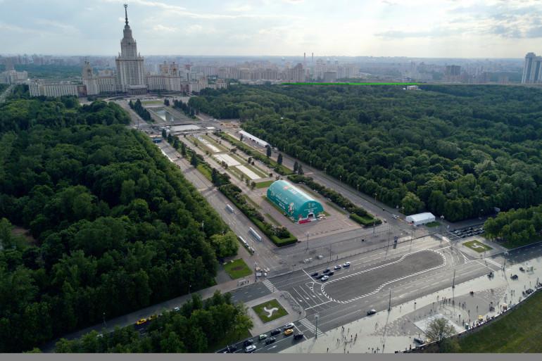 La fan zone installée pour la Coupe du Monde 2018, à Moscou