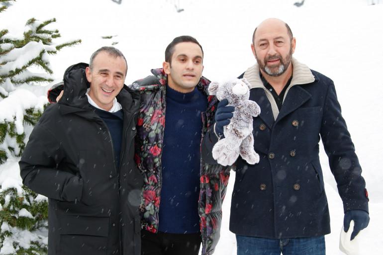 """Élie Semoun, Malik Bentalha et Kad Merad présentaient le film """"Le Doudou"""" au Festival de l'Alpe d'Huez 2018"""
