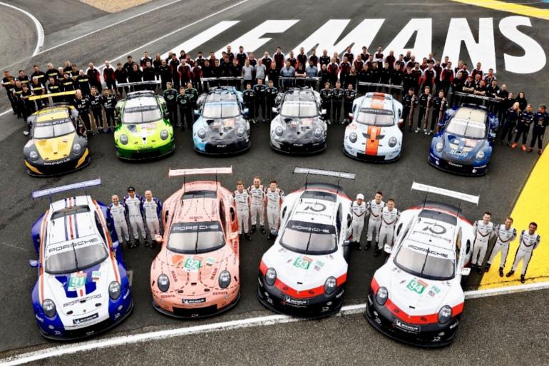 Porsche aligne cette année 10 bolides au départ