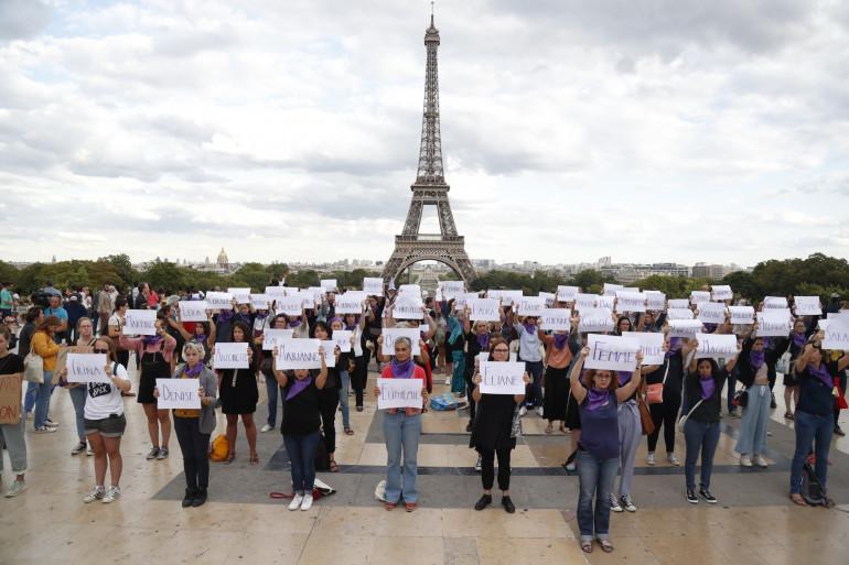 Des militantes contre les féminicides, à Paris, le 1er septembre 2019