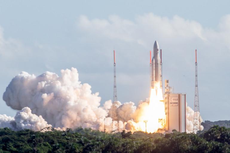 Ariane 5 décolle de Kourou (Guyane) avec 4 satellites de Galileo le 25 juillet 2018