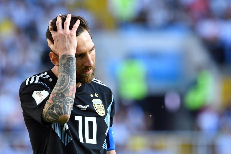 Lionel Messi à Moscou le 16 juin 2018