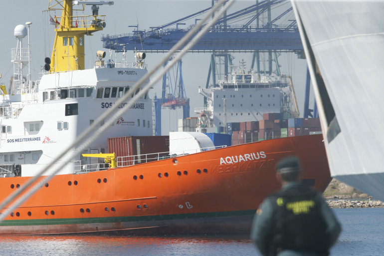 L'Aquarius arrive dans le port de Valence dimanche 17 juin