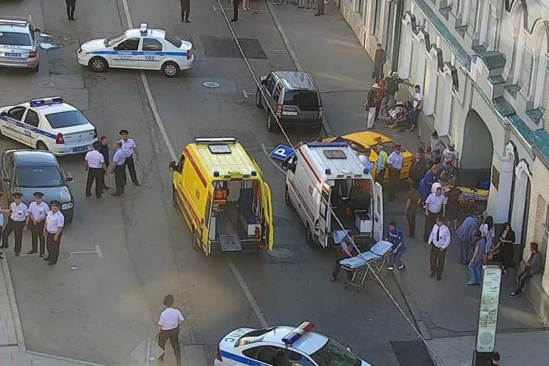 Un chauffeur de taxi a fauché 7 piétons sur un trottoir de Moscou, samedi 16 juin 2018