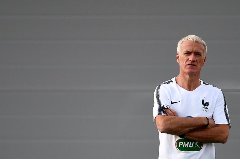 Le sélectionneur des Bleus Didier Deschamps, le 17 juin 2018 en Russie