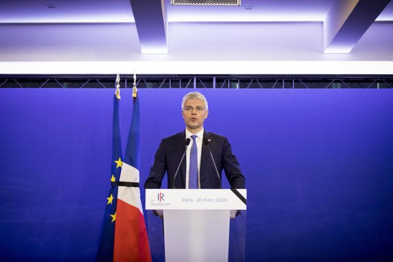 Laurent Wauquiez au siège des Républicains à Paris