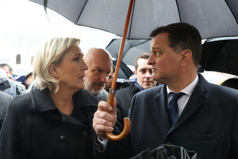 Marine Le Pen et Louis Aliot le 28 mars 2018
