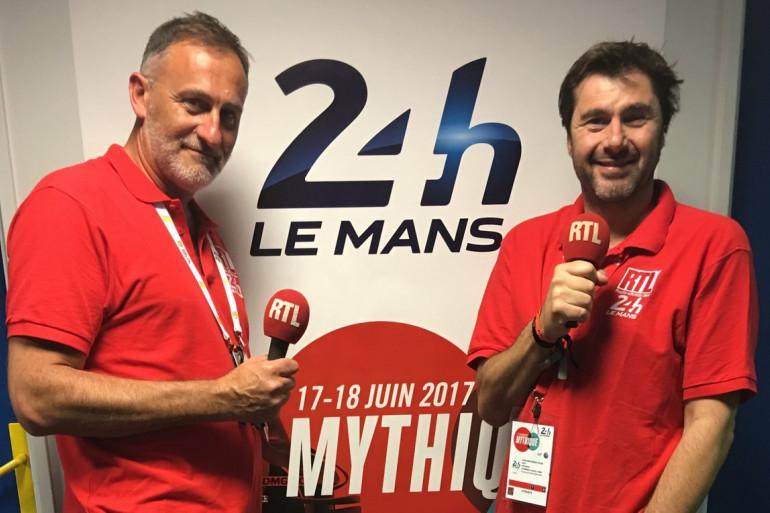 Frédéric Veille et Eric JeanJean lors de l'édition 2018 des 24 Heures du Mans