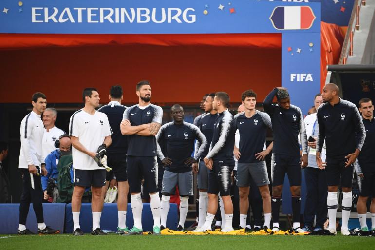 Les Bleus à l'entraînement le 20 juin à Ekaterinbourg, à la veille de leur match contre le Pérou