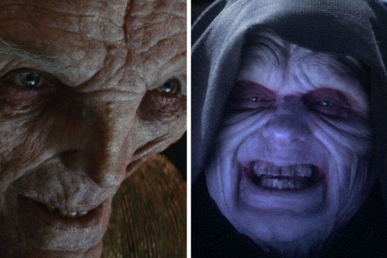 """Snoke et Palpatine dans """"Les Dernies Jedi"""" et """"Le Retour du Jedi"""""""