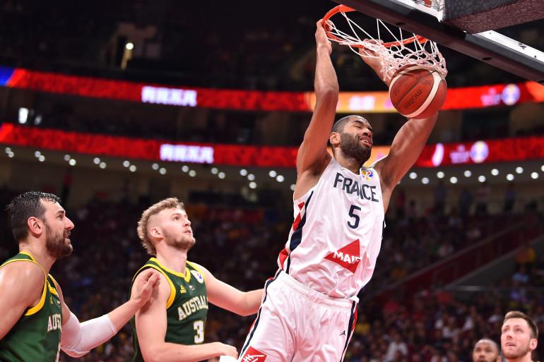 L'équipe de France de basket face à l'Australie le 15 septembre