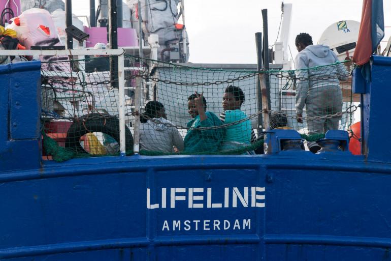 Le bateau humanitaire allemand Lifeline, le 21 juin 2018