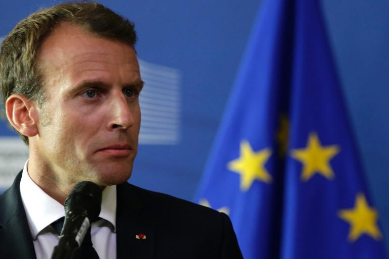 Le président français Emmanuel Macron, le 24 juin 2018 à Bruxelles