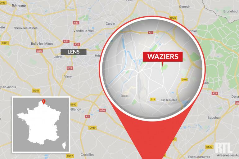 Carte Waziers (Haut-de-France)