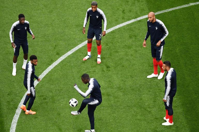 Les Bleus à l'entraînement le 21 juin 2018 avant France-Pérou
